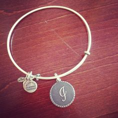 Alex and Ani initial bangle Alex And Ani Bracelets, Bangle Bracelets, Bangles, Fashion Beauty, Fashion Tips, Annie, Jewlery, Favorite Things, Initials