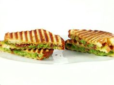 Grilled Cheese with Spinach and Pancetta Recipe : Giada De Laurentiis : Food Network - FoodNetwork.com