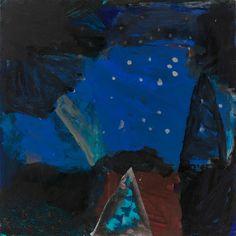 "fustanella: "" Idris Murphy, Reflection, night sky, Acrylic & gouache on board, unframed. Abstract Landscape, Landscape Paintings, Abstract Art, Landscapes, Dark Landscape, Ocean At Night, Art Terms, Inspirational Artwork, Australian Artists"