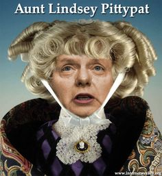 Aunt Lindsey Pittypat  Lindsey Graham, Gone With The Wind, Tea Party, GOP, Smear And Fear, Fox News, Cartoon