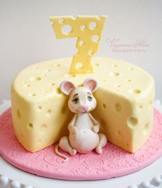 Cake with a mouse and cheese - Cake by Alina Vaganova - CakesDecor