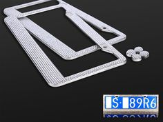 Find More License Plate Information about 2 Pack set New Shiny Bling License Plate Frame for US Cars,High Quality frame photo frames love you,China plate nuts Suppliers, Cheap frame ceiling from Snow Tech on Aliexpress.com