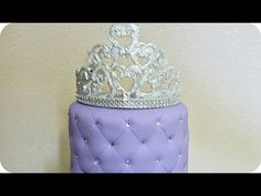 How to make a fondant Crown topper from molded pieces - YouTube