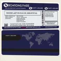 """Produkttitel: Einladungskarten Flugticket in ROT zum Geburtstag  Einladungskarte zum Geburtstag als Flugticket in ROT. Bei dieser Karte kommt """"fliegt"""" bestimmt jeder auf Ihre Party! Die Vorderseite..."""