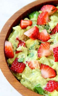 Strawberry Goat Cheese Guacamole