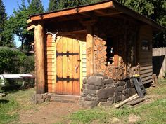 Cordwood shed would make a great little house!