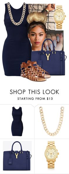 """""""Untitled #266"""" by sremmlife ❤ liked on Polyvore featuring Sonatina, Oneness, Jane Norman, Yves Saint Laurent, Michael Kors and Valentino"""