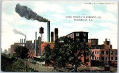 "Waukegan Illinois Postcard ""Corn Products Refining Co "" Factory View 1909 | eBay"