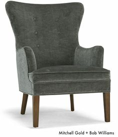 Wingback chair. Available at Mitchell Gold + Bob Williams
