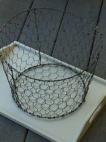Make your own chicken wire basket
