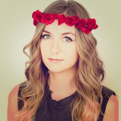 Red rose flower crown! Perfect for a festival ✨ Great flower crown staple for any festival - would be awesome for coachella ✨✨✨🎶 - great condition Free People Accessories Hair Accessories