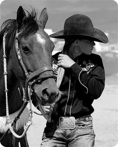 Cowgirl and Her Horse .... Lovely!