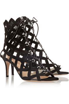Gianvito Rossi | Cutout suede sandals | NET-A-PORTER.COM
