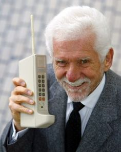 1973: Martin Cooper created the first cell phone. The cell phone helped the world by making it easy to call anybody on a portable phone.