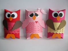 Stampin' With Rachael: owls - love the eyes on the pink one!