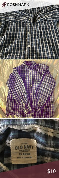 Old Navy Striped Button Up Shirt Old Navy Striped Button Up Shirt in great condition Shirts & Tops Tees - Long Sleeve