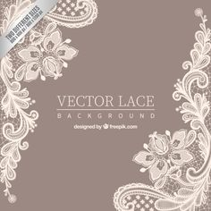Ornamental lace background Free Vector