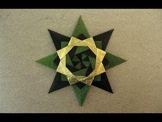 Christmas Origami Instructions: Braided Corona Star (Maria Sinayskaya) - YouTube