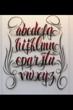 Airbrush Lettering Font - Fancy Script Lower Case