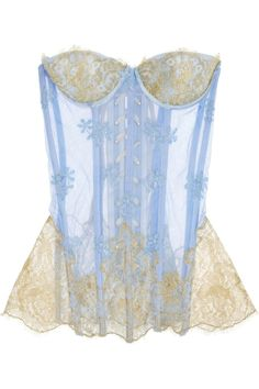 Rosamosario | Principessa Flirts embroidered tulle and lace corset.. Springy fun!