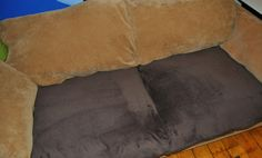 Super Easy Couch Cushion Covers...Made With Fleece Blanket.
