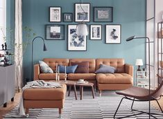 LANDSKRONA sofa, with chaise longue, Grann/Bomstad golden-brown/metal - Grann/Bomstad golden-brown - metal - IKEA Living Room Photos, Living Room Sofa, Living Room Interior, Living Room Decor, Living Rooms, Living Area, Landskrona Sofa, Colourful Living Room, Living Room Inspiration
