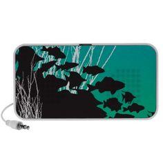 #fish #customspeakers #minispeakers #doodlespeakers #water #zazzle