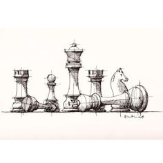 Chess Pieces Sketch Drawing Sketches Art Art Sketches Chess Board Sketch At Paintingvalley Com Explore Collection Of Sketch Chess Images Kunst Inspo, Art Inspo, Art And Illustration, Illustrations, Drawing Sketches, Art Drawings, Drawing Ideas, Sketching, Sketchbook Drawings