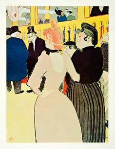 1964 Print Henri Toulouse-Lautrec Moulin Rouge Goulue Mome Fromage Warner XAJA6