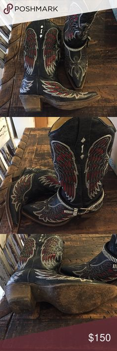 Corral Boots Worn only a handful of times. Very good condition. Size 5 1/2 women's. I usually wear a 6. No trades please. Boot bracelet not included. corral Shoes Heeled Boots