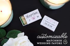 Printable Matchbox Wedding Favors submitted to InspirationDIY.com