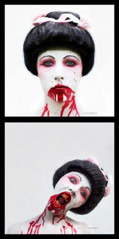 Zombie Geisha - Horror Photography and Portraits by Danielle Tunstall