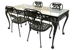Molla Outdoor Dining Table & Four Chairs