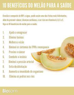 Clique na imagem e veja os 10 benefícios do melão para a saúde. #alimentação…                                                                                                                                                                                 Mais