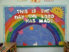 sunday school bulletin board ideas   ... is the day the Lord has made! bulletin ...   Bulletin Board Ide