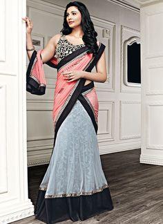 Lively Daisy Shah Grey #Net #Lehenga #Choli