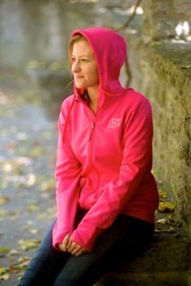 Monogrammed Stealth Jacket at Zoubaby! Hot PInk and also available in black!