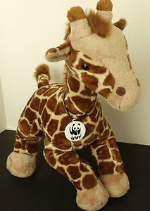 WWF 2005 Build A Bear Workshop Plush Stuffed Giraffe Collectible Retired Series