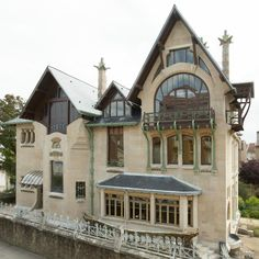 villa majorelle, the iconic art nouveau building designed by henri sauvage for louis majorelle in nancy, reopens its doors after restoration. Villas, Best Compost Bin, Architecture Art Nouveau, Architecture Renovation, Curved Staircase, Forest House, Interior Exterior, French Art, Midcentury Modern