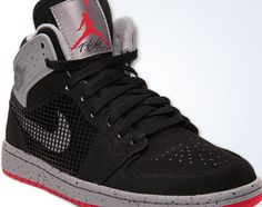 Air Jordan 1 Retro 89   Black/Fire Red Cement Grey
