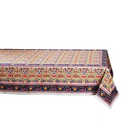 TAG Global Artistry Collection Jolie Cotton Tablecloth ** ** AMAZON BEST BUY ** #BohemianKitchen Bohemian Kitchen, Cool Things To Buy, Stuff To Buy, Tags, Amazon, Cotton, Collection, Fashion, Cool Stuff To Buy