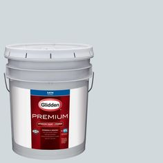 Glidden Premium 5 gal. #HDGCN42D Palest Morning Blue Satin Interior Paint with Primer