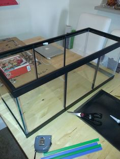 My first attempt at a divided tank for my male bettas 10 for Fish tank divider 5 gallon