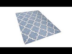 Dywan jasnoniebieski - 80x150 cm - handmade - bawełna - YALOVA