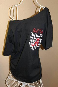University of Alabama Crimson Tide Pocket by SewSnazzybyBrook, $32.00