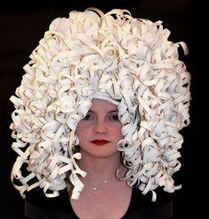 ChloeRoche: Paper wig photos; Portfolio