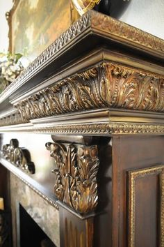 Easy DIY Home Decor Projects With Metallic Paint. Add metallic highlights to furniture or carved woods. Look at how elegant this fireplace came out with these great metallic accents. Our water based metallic paints dry quickly allowing you to blend several shades together for the perfect look.