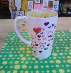 Hearts Mug Painted By Customer #potterypainting