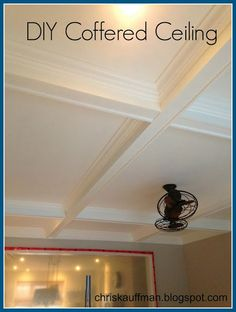 Awesome DIY coffered ceiling
