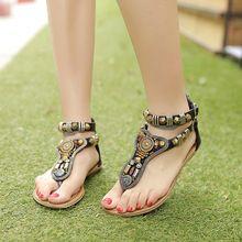 NEW 2015 Summer rome Vintage flip flops fashion women flat sandals shoes women slippers Zip 35-40(China (Mainland))